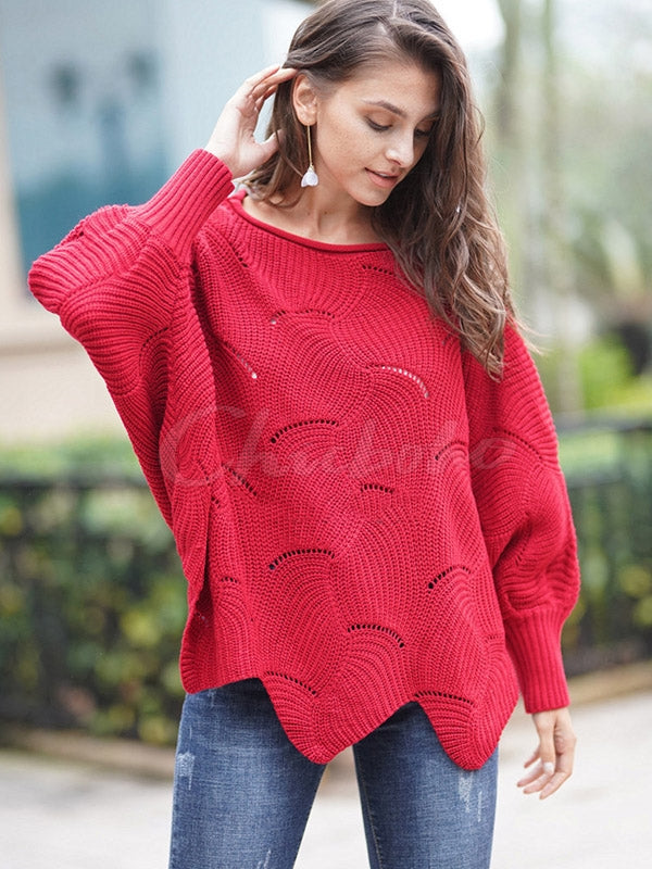 Loose Hollow Cropped Knitwear