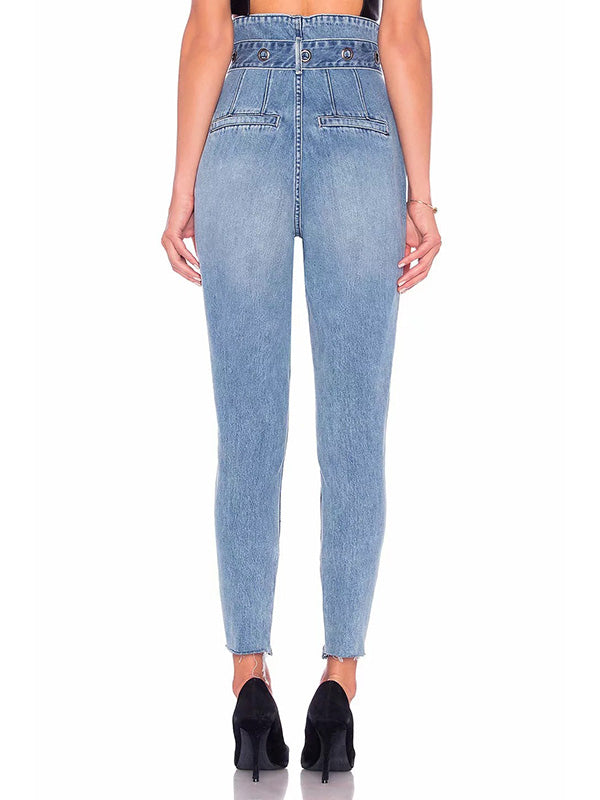 High Waist Jeans Pants Bottoms