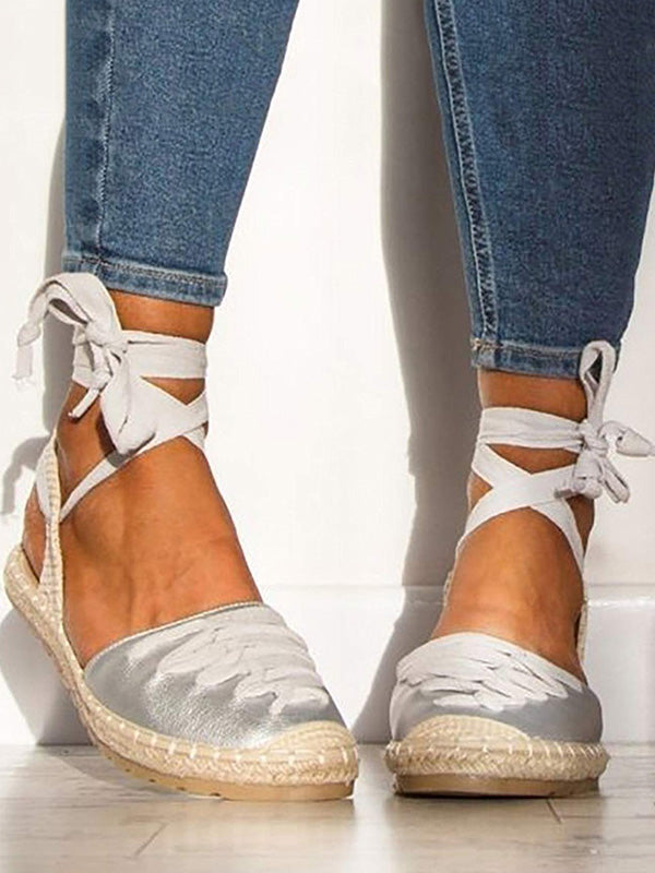 Pretty Bandage Open Toe Casual Shoes