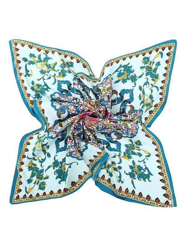 4 Colors Bohemia Floral Square Cape Scarf