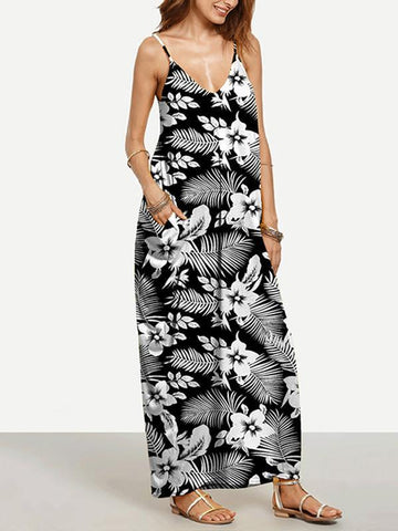 Bohemia Floral-printed One-shoulder Mini Dress