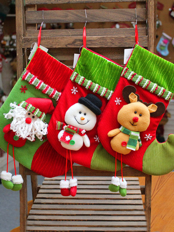 Christmas Socks Pendant Candy Pouch Decoration