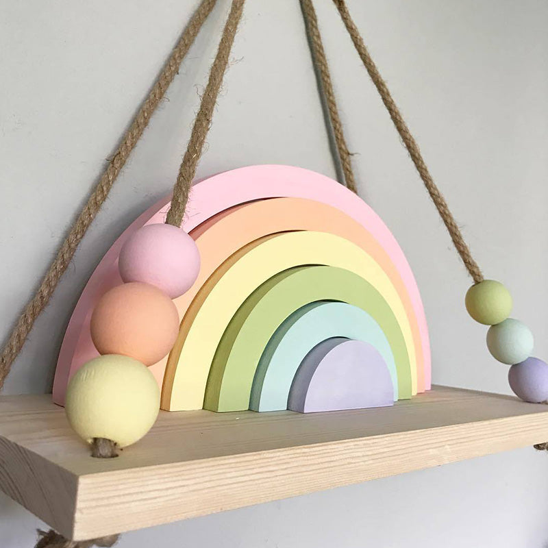 INS Macaron Rainbow Embossment Home Decoration