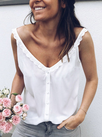 Cozy Cropped Round-neck Blouses Top
