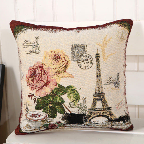 Eiffel Tower Pattern Pillow Case