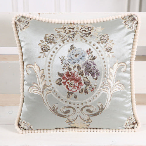 Ethnic Floral Embroidered Pillow Case