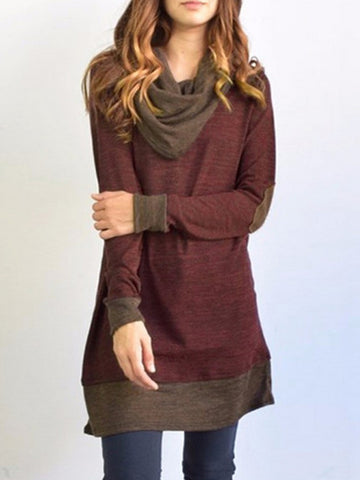 Simple Solid Color Long Sleeves Blouses&shirt Tops