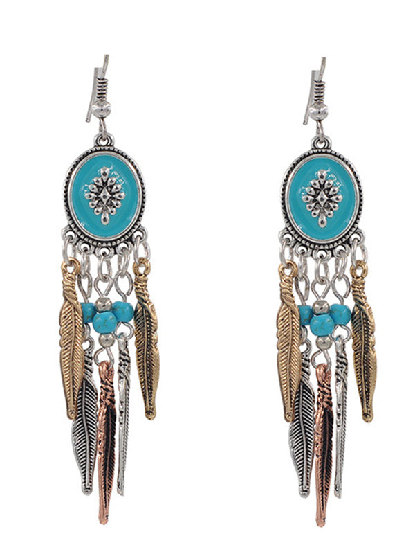 Turquoise Tassels Earrings Accessories