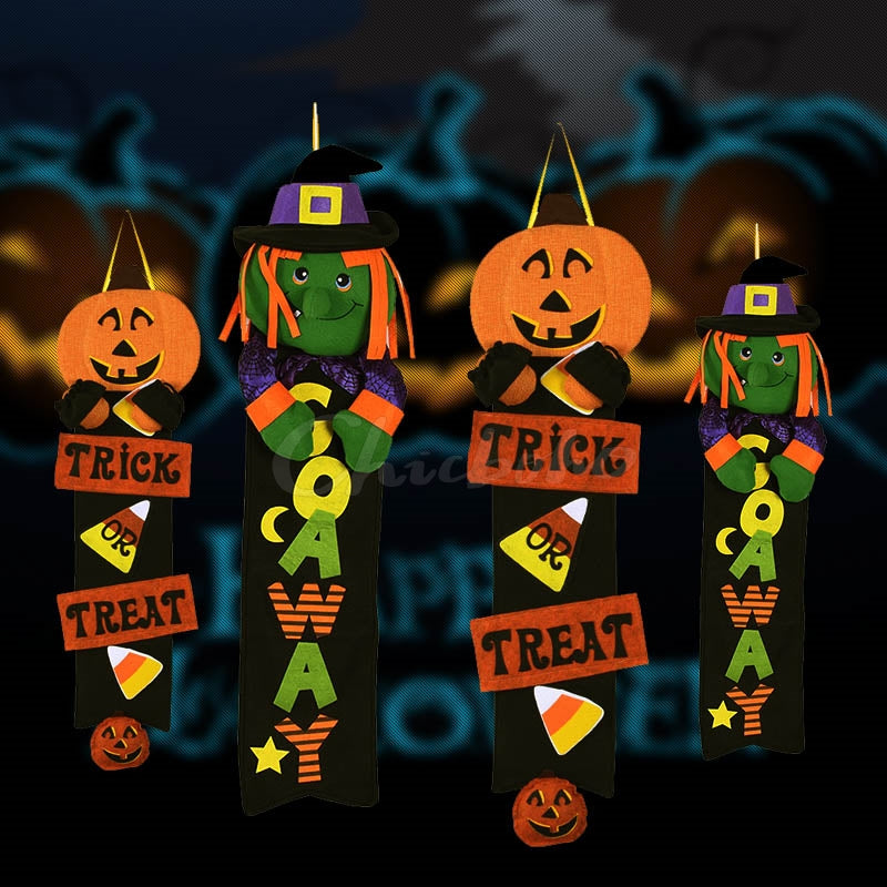 Halloween Pumpkin Witch Pendant Decorations