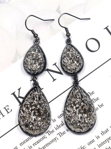Bohemia Retro Alloy Hollow Earrings Accessories