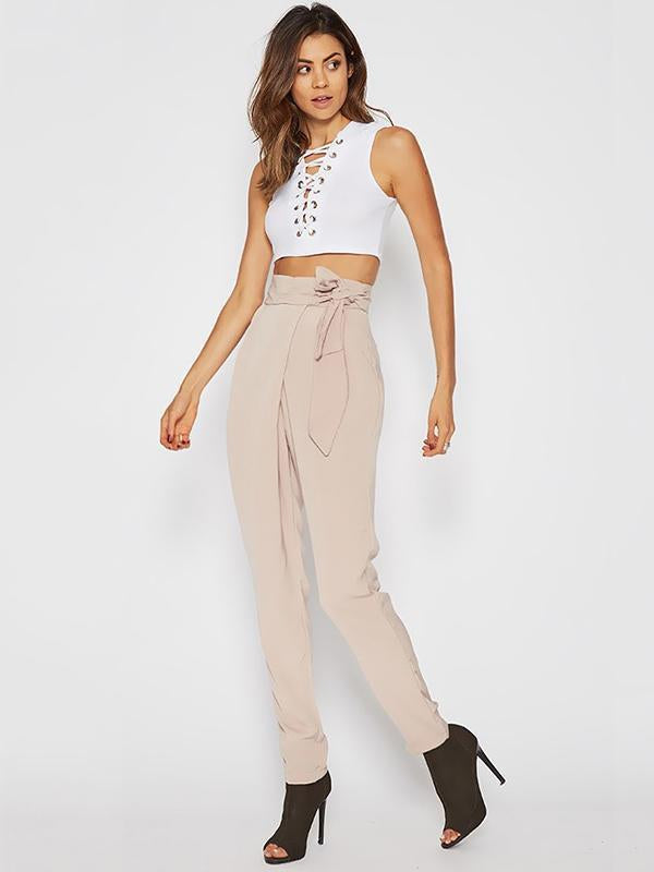 Fashion Casual Printed Tapered Pants