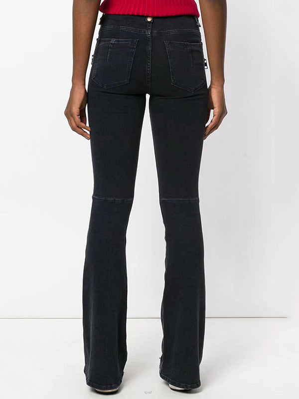 Flared Bandage Jean Pants Bottoms