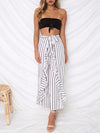Ruffle High Waist Falbala Wide Leg Pants