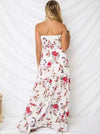 Bohemia Floral Off shoulder Waisted Maxi Dress