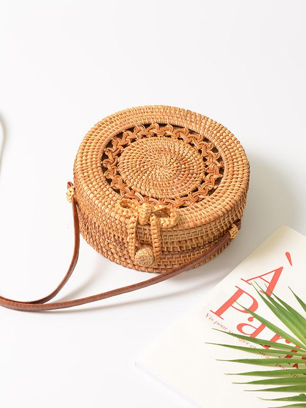 Rattan Hollow Forest Handmade Bohemia Bag
