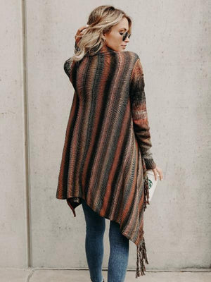 Asymmetric Tassels Cape Tops