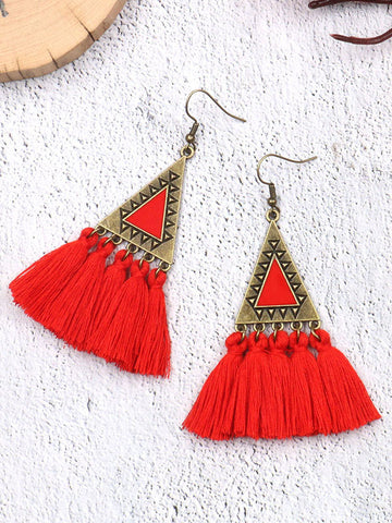 Bohemia 3 Colors Fan-shaped Earrings Accessories