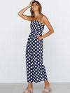 Polka-dot High Waisted Jumpsuits