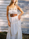 Spaghetti Embroidered Loose Maxi Dress