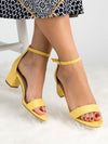 Peep Toe Sandal Block High Heels