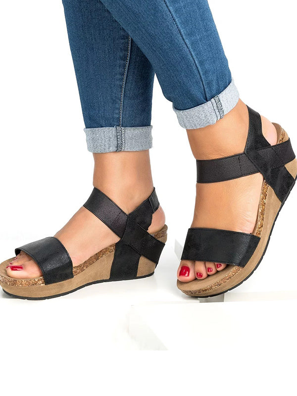Simple Mid-heel Sandals Shoes