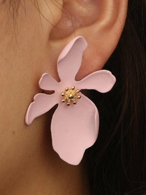 Vintage Hollow Flowers Earrings Accessories