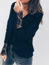 Fashion Lace Knitting Long Sleeves Sweater Tops