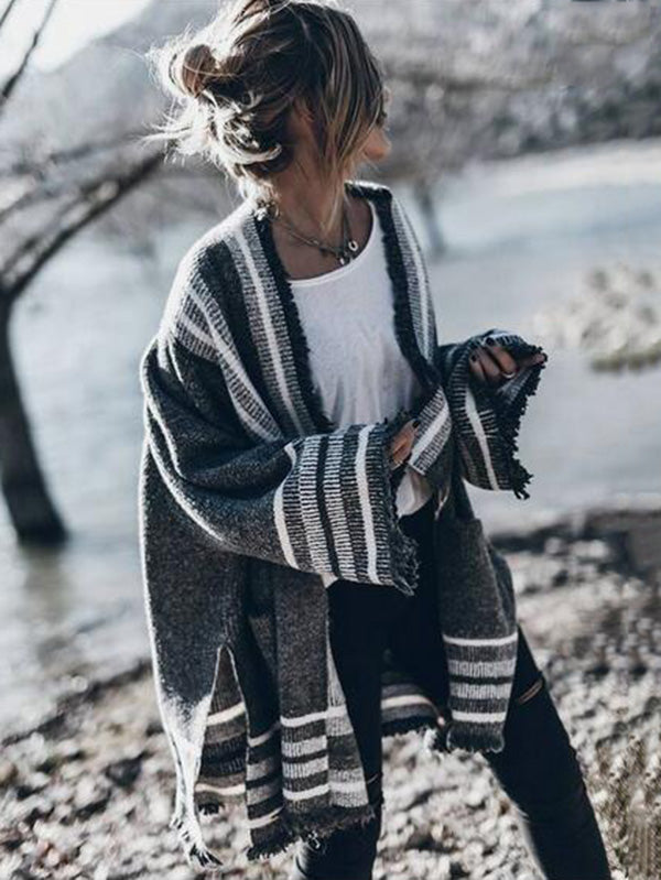 Fashion Tasseled Cardigan Tops