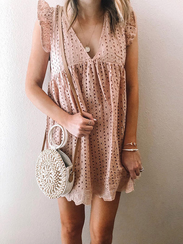 Sleeveless Pink Mini Dress