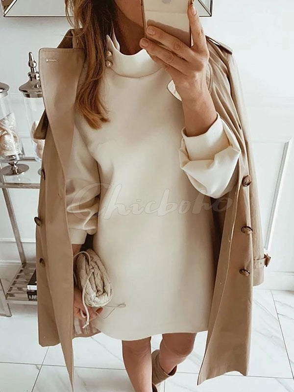 Special Long Sleeves Midi Dresses