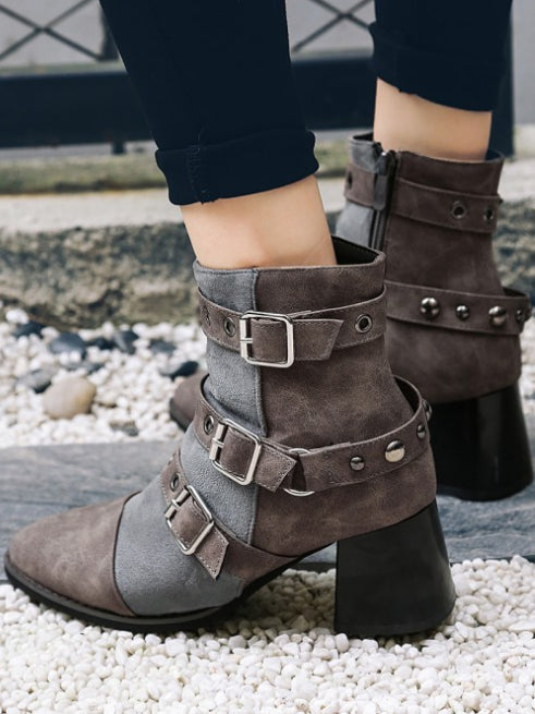 Fashion Bandage Ankle Boots Shoes