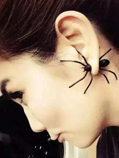 Punk Wacky Black Spider Earring Accessories