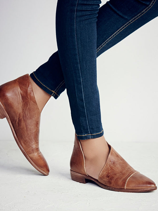 Simple Causal Low-heel Pumps Shoes