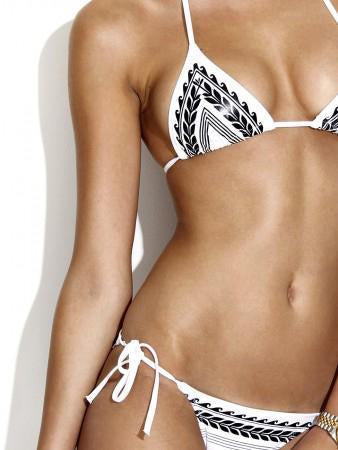 Lace Split-joint Condole Belt Bikini Swimwear