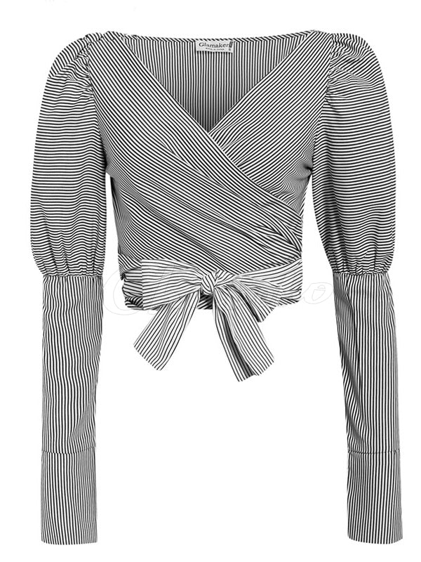 Minority Striped Bandage Base Shirt