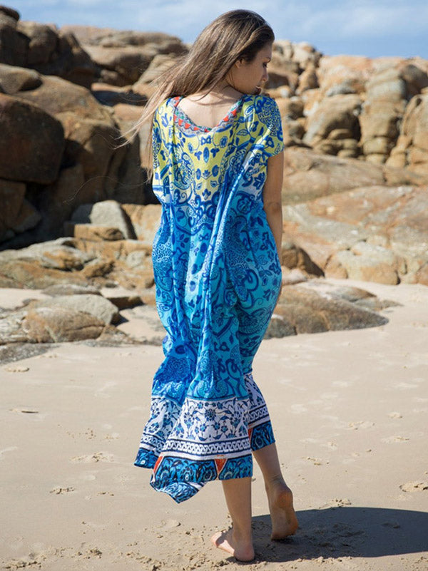 Bohemia Printed Covers-ups Swimwear
