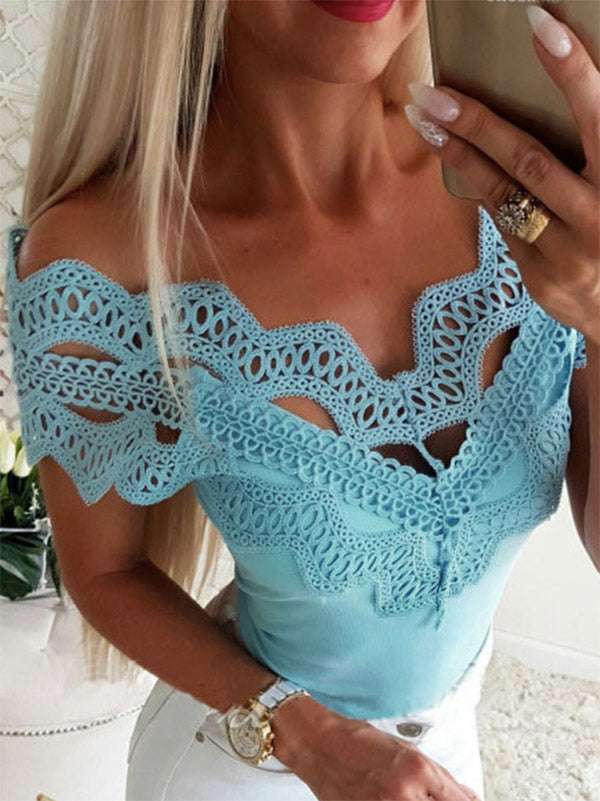 Sexy Lace Blouses&shirts Tops