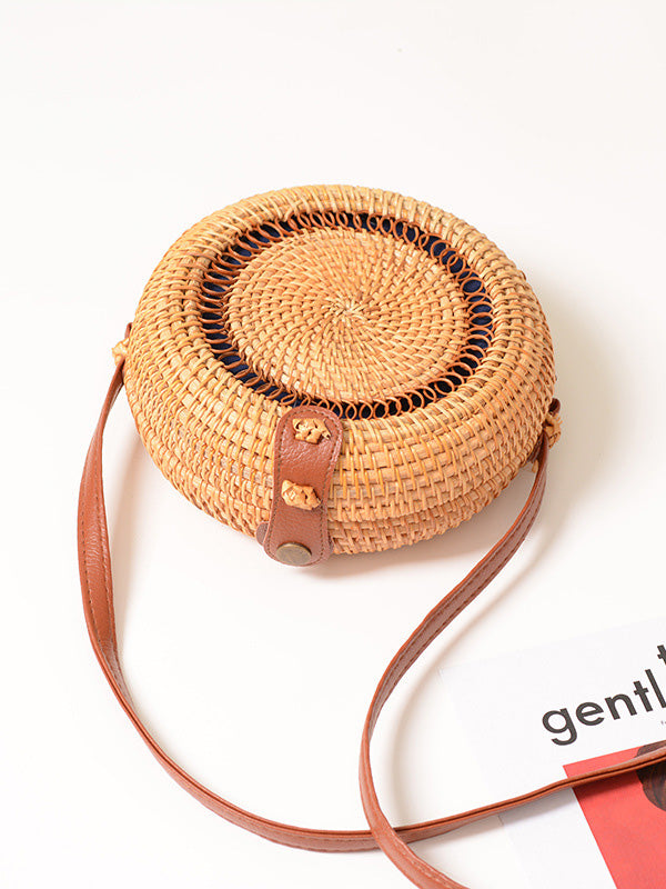 Fresh Forest Style Round Little Bag