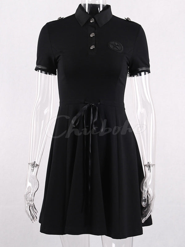 Dark Gothic Suit Mini Dress