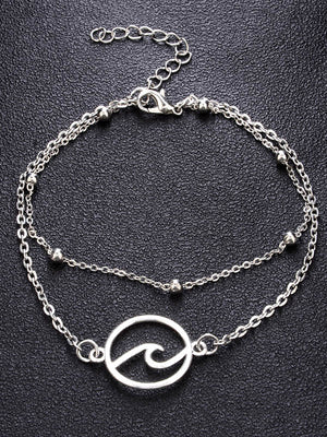Silver Vintage Alloy Footchain Accessories