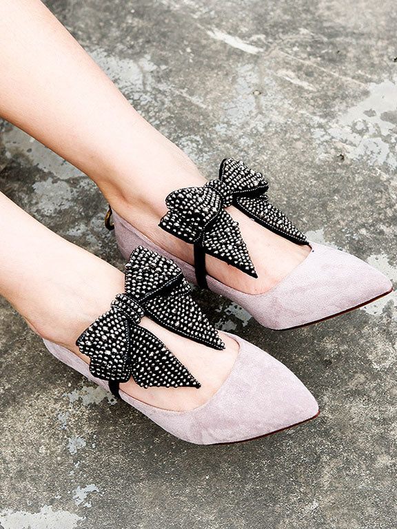 Bow-embellished DIY Shoes Decoration