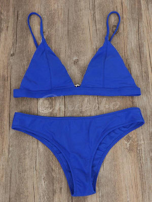 7 Colors Plain Bikinis Swimwear