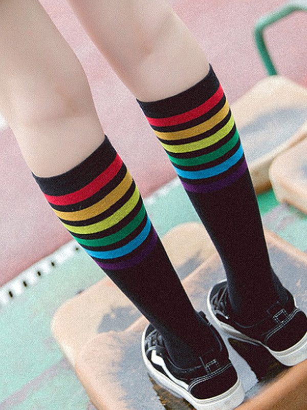 Rainbow Mid-calf Length Stocking