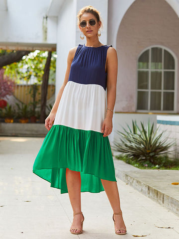 4 Colors Simple Midi Dress