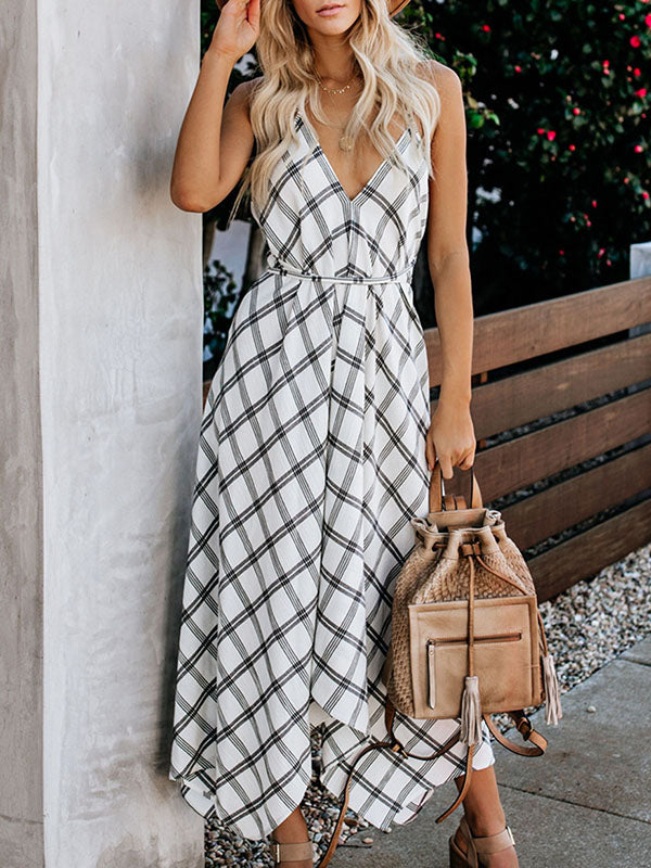 Bohemia Spaghetti-neck Maxi Dress