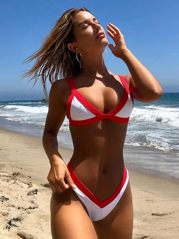 Sexy Triangle Top Beach Bikinis Swimwear