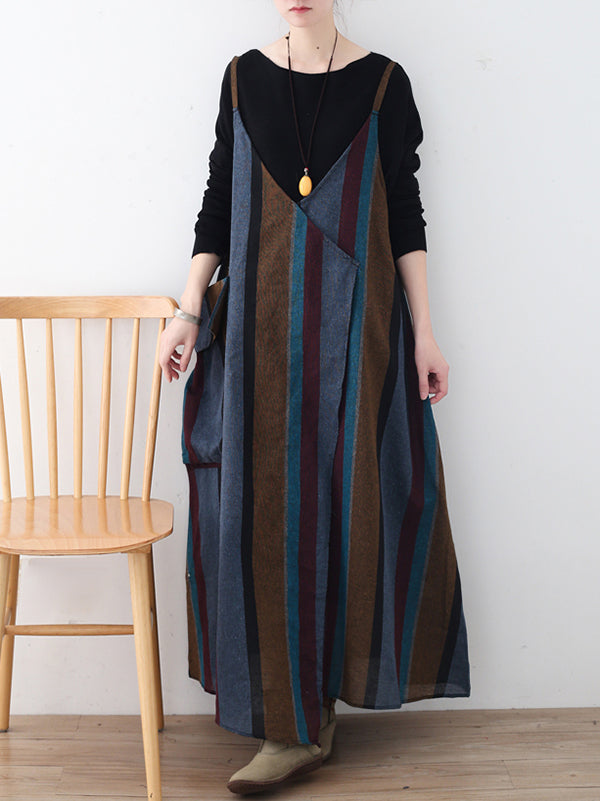 Autumn Black Knitting Sweater+Linen Braces Skirt Suits
