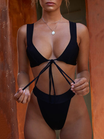 4 Colors Sexy Halter-neck Bikinis Swimwear