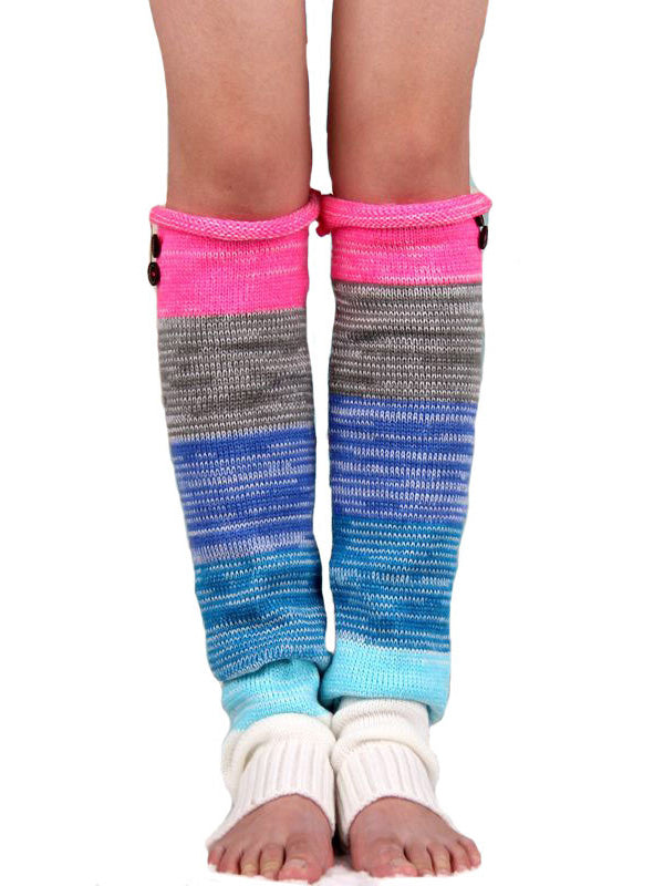 Bohemia Colorful Striped Long Stocking