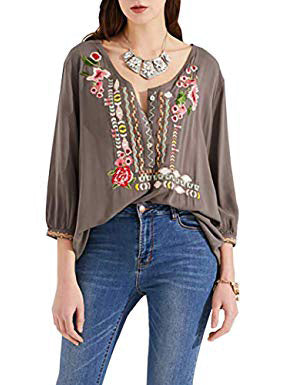 V-neck 2 Colors Blouses&shirts Tops